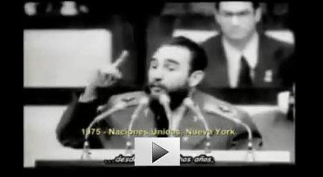 Fidel Castro habla de la intervención cubana en Angola en la ONU (1975)