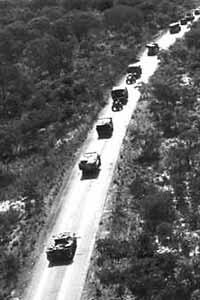 Caravana cubana hacia Cuito Cuanavale