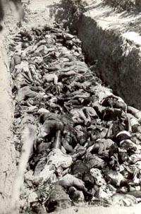 Víctimas del ataque sudafricano en el campamento Cassinga de la Swapo en mayo de 1978