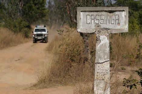 Entrada de Cassinga en la actualidad