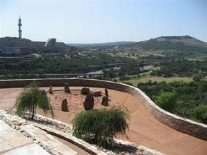 Vista de una sección del Parque de la Libertad en Pretoria