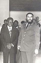 Agostinho Neto y Fidel Castro