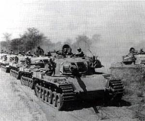 Tanques sudafricanos Olifant en camino a Cuito Cuanavale