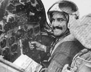 Capitán Jorge González Pérez, caído en Angola. El avión MIG-23ML que pilotaba fue derribado cerca de Menonge el 25 de julio de 1986. Foto tomada del blog HavanaLuanda